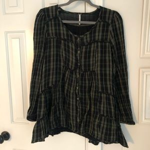 Vintage Free People Buttoned Down Top/Dress